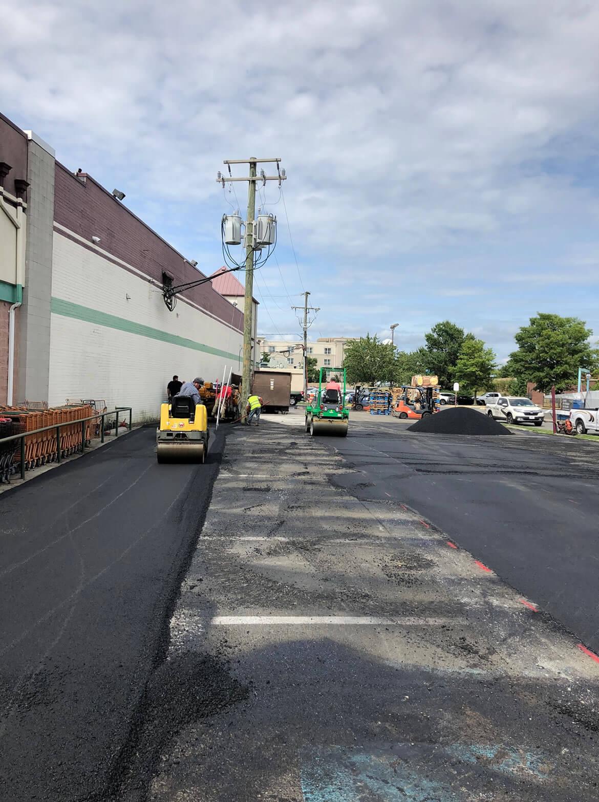 Asphalt Paving a Parking Lot