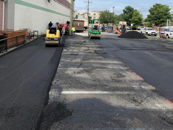 Asphalt Paving Commercial Parking Lot